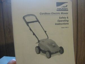 Like New Neuton Cordless Electric Mower London Ontario image 3