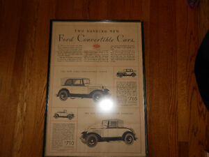 Antique Ford Convertible Advertisement Windsor Region Ontario image 2