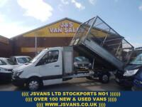 2014 14 MERCEDES-BENZ SPRINTER CAGED TIPPER TRUCK 313 CDI 1 OWNER X5 IN STOCK D