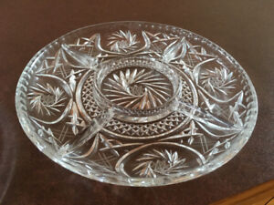 Crystal Platter and Cake Stand