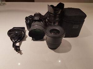 Canon camera and lenses (also sold individually)