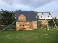 Ultimate kids play house, Wendy house, swing and slide