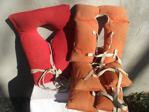Vintage Cloth Life Vests 1970's Cottage Life
