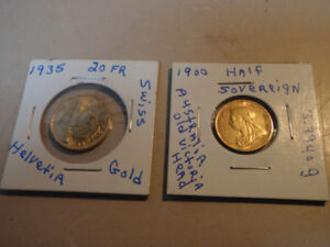 2 old gold coins