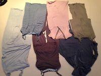 Maternity pyjamas x3, nightdresses x2 and joggers.