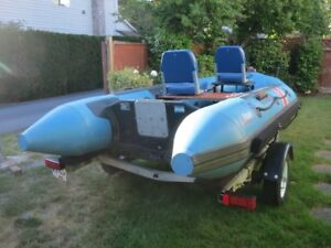 Inflatable Boat & Trailer