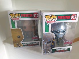 Funko Pops! Predator and Dutch