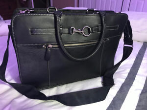 Leather briefcase or laptop bag