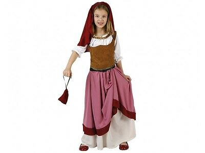 Costume Girl MAID Medieval Pink 10/11/12 Years Peasant woman NEW Cheap