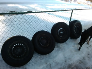 Brand new winter tires with rims