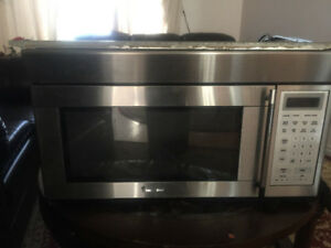 Magic chef over the range stainless steel microwave for sale