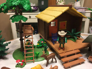 PLAYMOBIL WILDERNESS LOG HOUSE AND CABIN