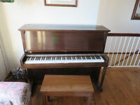 Willis Upright Piano plus bench