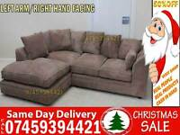 50% Off BRAND NEW L SHAPE FABRIC CORNER SOFA SUITE IN LEFT/RIGHT ARM, 3+2 SET AVAILABLE IN CARAMEL