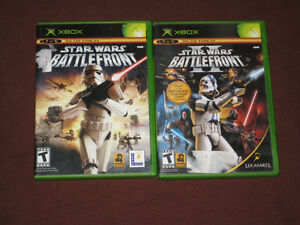 Xbox Star Wars Battlefront 1 & 2 video games Xbox 360 COMPLETE!