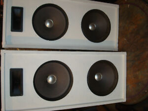 "2 Professional 30"" tall 3-way Functioning Stage Box Speakers"