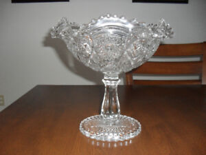 Antique Cut Glass Fruit Bowl