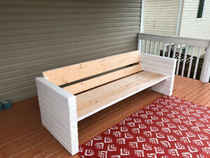Handmade outdoor sofa - cushions not included MUST GO TODAY