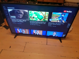 50 full HD led smart bush tv built in wifi built in freeview and HDMI