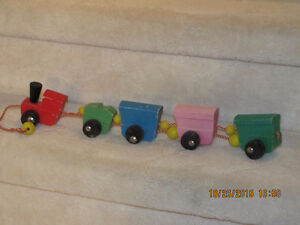 Vintage Toy Train - Wooden