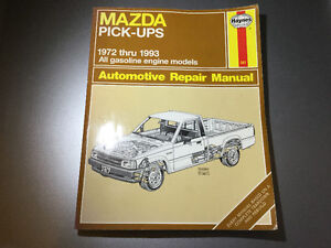 1972-1993 Mazda Pickup Truck B1800 B2000 B2200 B2600 Shop Manual