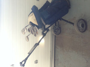 Adult Right, Golf Clubs and Bag with Cart