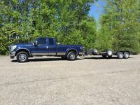 Truck and 18' trailer for hire