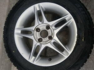 4x Honda Civic 5 Split-Spoke ENKEI 4x100mm [with winter tires]