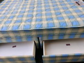 Double bed base storage