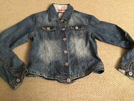 Girls next denim jacket aged 11-12