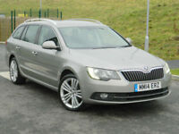 2014 14 REG SKODA SUPERB 2.0TDI CR 4X4 ELEGANCE ESTATE WITH MEGA SPEC!