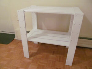 SHABBY CHIC WHITE STAND SOLID PINE