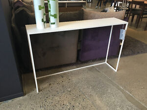 New White Console Table from Shelter