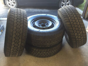 [4] - LT285/70/R17 - Toyo WLTl Open Country Winter Tires & Rims