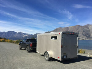 12x6' Converted Cargo Trailer with Wood Stove