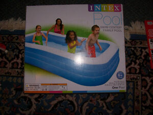 Large Inflatable Childs Pool   120in by 72 in by 22in Deep (NEW)