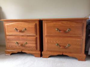 2 Matching SHERMAG SOLID OAK Night Stands/Tables/Chests