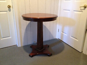 Traditional Round Pedestal Side Table London Ontario image 2
