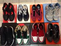 Jordans and nikes size 10-11 all DS