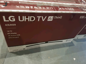 LG 43 inch 4k smart tv new boxed call 07550365232