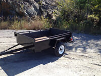 Heavy duty 4x6 utility trailer