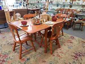 Maple Drop Leaf Table & Chairs