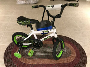 Next Android BMX Boy's Bicycle with Training Wheels & Helmet