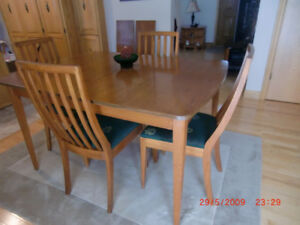 """Table & 4 Chairs Size 38""""W x 54""""      (  Can Deliver For a Cost)"""