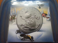 MiNT SEALED - $20 for $20 Fine Silver Coin - Snowman (2014)