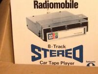 Vintage 8 track car stereo new in box