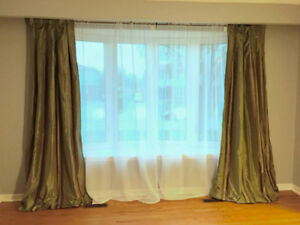 Beautiful Luxurious Designer Drapes - 3 sets available