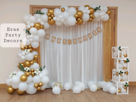 Baby shower balloon arch Balloon garland backdrop party decoration
