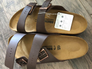 Birkenstock sandals brown new men