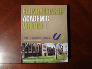 University of Windsor Foundations of Academic Writing Textbooks